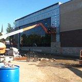 Woodson YMCA new entrance work Photo: Larry Lee © 2014 Midwest Communicatoins
